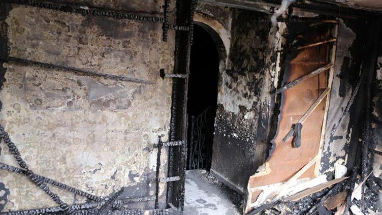 (Ce qui reste de la discothèque après l'incendie © MAXPPP)