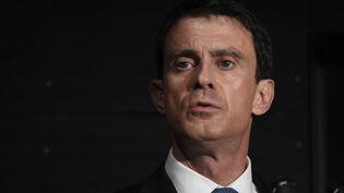 Manuel Valls, le 8 janvier 2016, à Evry (Essonne). (DOMINIQUE FAGET / POOL)