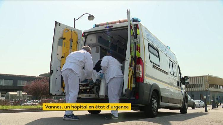 L'hôpital de Vannes (Morbihan) en état d'alerte (FRANCEINFO)
