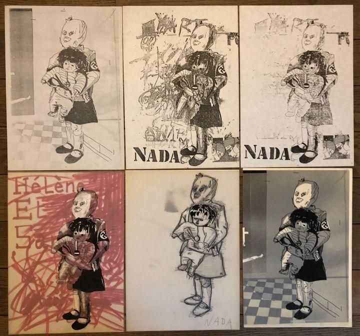 FanXoa (1980-1981), travail graphique punk autour de la petite fille victime de la pollution chimique à Seveso. (époque Béruriers, groupe pré-Bérurier Noir). (DEPARTEMENT MUSICAL BNF)