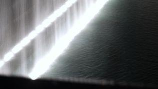 11 septembre 2021. La cascadedu memorial de Ground Zero. Cette année 2021 marque la 20e commémoration des attaques terroristes du 11 septembre 2001 contre le World Trade Center. (PAOLA CHAPDELAINE / HANS LUCAS /  AFP)