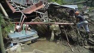 A Salgar, le 18 mai 2015. Cette localité colombiennea été touchée par un important glissement de terrain. (RAUL ARBOLEDA / AFP)