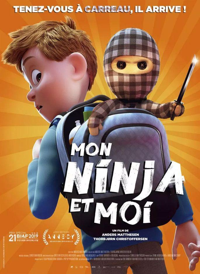 Affiche du film d'animation Mon Ninja et moi, en salle le 15 juillet 2020. (Alba Films)