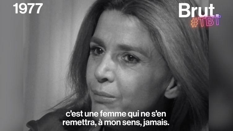 """VIDEO. """"Une femme violée, c'est une femme cassée, c'est une femme éclatée"""", déclarait Gisèle Halimi (BRUT)"""