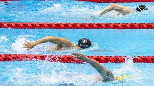 Le para-nageur français David Smétaninesur 100 m nage libre, lors des Jeux paralympiques de Tokyo, le 26 août 2021. (G.MIRAND /  / FRANCE PARALYMPIQUE)