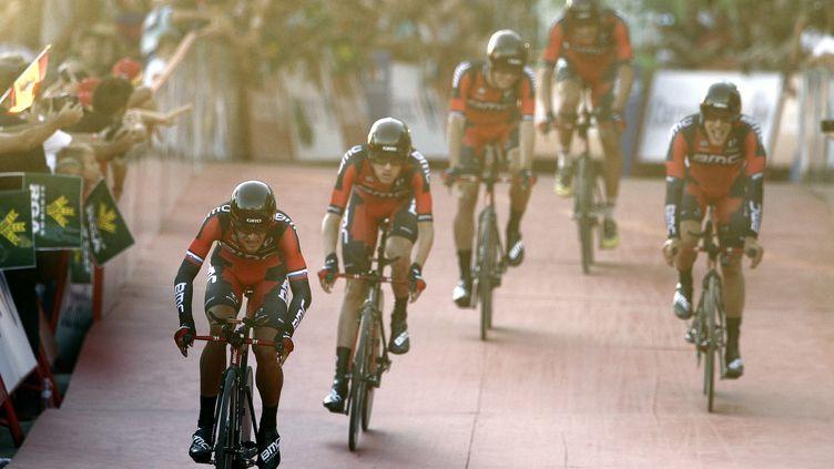 La formation BMC a pris le meilleur départ sur la Vuelta (JOSE JORDAN / AFP)