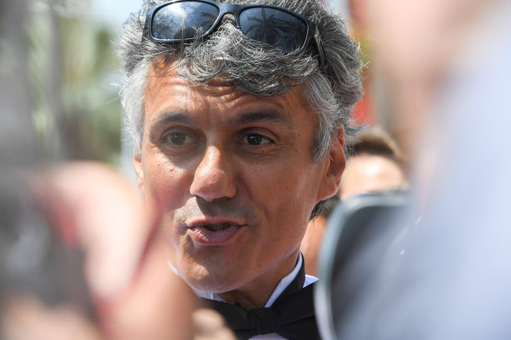 L'activiste algérien Rachid Nekkaz est lui aussi passé au poste de police, pour avoir tenté d'organiser la baignade en burkini.  (Anne-Christine Poujoulat / AFP)