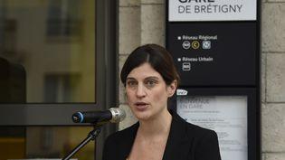 La secréaire d'Etat à l'aide aux victimes, Juliette Meadel, à Brétigny-sur-Orge, le 12 juillet 2016. (DOMINIQUE FAGET / AFP)