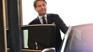 Le Premier ministre italien, Giuseppe Conte, le 29 août au Sénat, à Rome. (ANDREAS SOLARO / AFP)