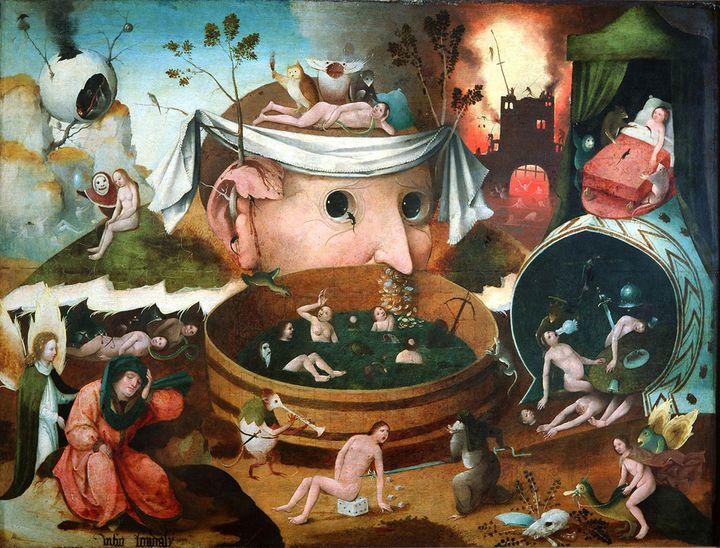 Ecole de Heronymus Bosch, La Vision de Tondal, 1520-1530, Madrid, Fundaciòn Làzaro Galdiano  (Museo Làzaro Galdiano, Madrid)