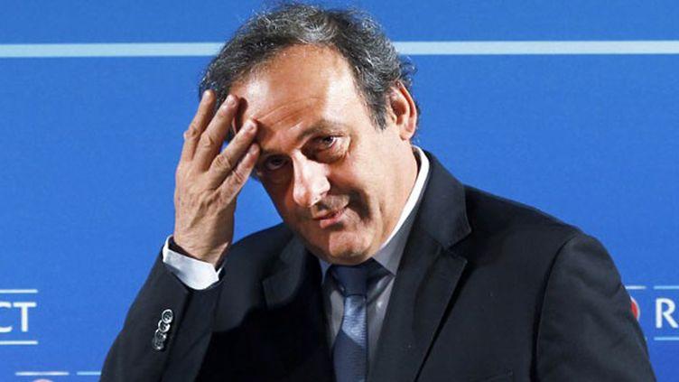 Le président de l'UEFA Michel Platini