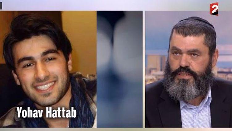 Le rabbin Batou Hattab est le père de l'un des quatre victimes de la tuerie dans le magasin casher de la porte de Vincennes, à Paris,Yoav Hattab. ( FRANCE 2)
