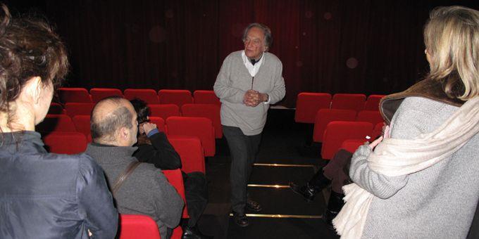 Philippe Tesson présente son théâtre de Poche, mardi 15 janvier 2013  (S.Jouve)