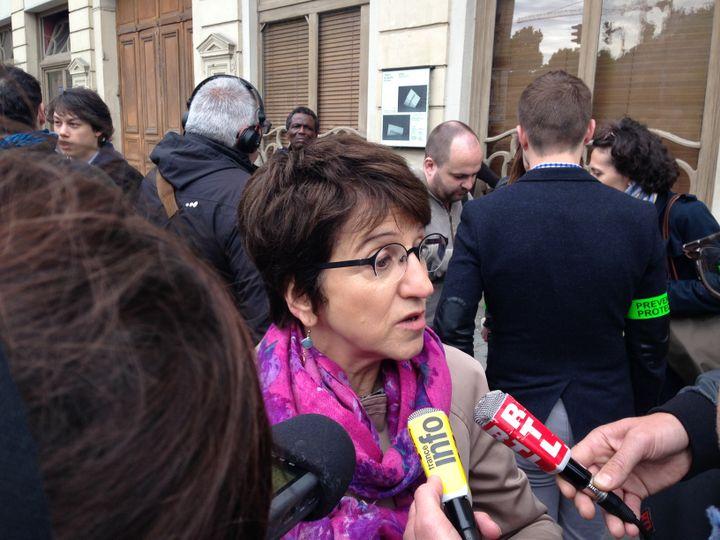 Dominique Versini, adjointe au maire de Paris chargée de la lutte contre les exclusions, le 2 juin 2015 à Paris. (ILAN CARO / FRANCETV INFO)