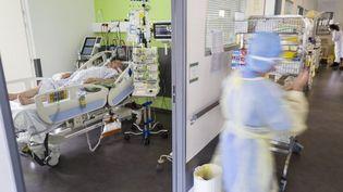 Le service de réanimation de l'hôpital Louis Pasteur, à Colmar. (SEBASTIEN BOZON / AFP)