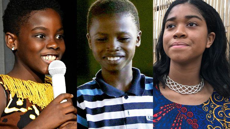 De gauche à droite, Erica Tandoh alias DJ Switch, Waris Kareem et Zuriel Oduwole, de très jeunes Africains qui comptent déjà. (AP/SIPA)