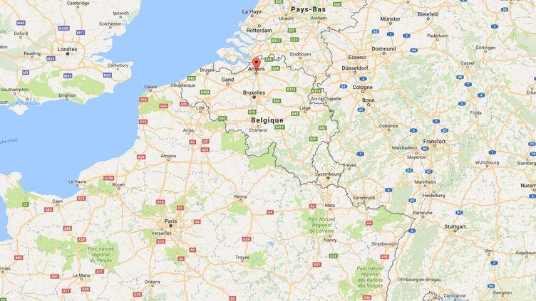 Anvers, en Belgique. (GOOGLE MAPS)