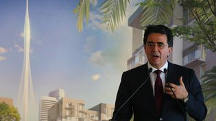 L'architecte Santiago Calatrava présente son projet de tour à Dubaï.  (MARWAN NAAMANI / AFP)