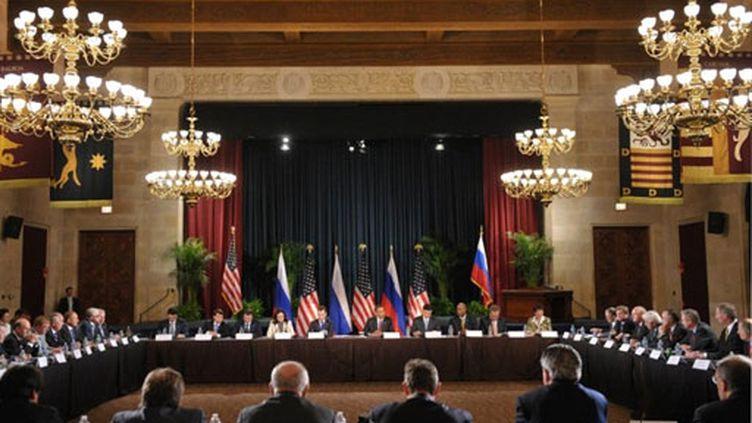 Sommet russo-américain à Washington, le 24 juin 2010 (AFP / Mandel Ngan)