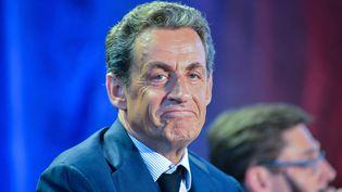 Le président de l'UMP, Nicolas Sarkozy, le 11 mai 2015, auxPavillons-sous-Bois (Seine-Saint-Denis) lors d'un meeting. (CITIZENSIDE/FRANCOIS PAULETTO / AFP)