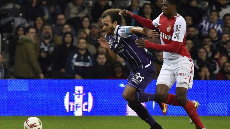 Martin Braithwaite et le TFC avaient battu Monaco lors de leur dernier match au Stadium (PASCAL PAVANI / AFP)