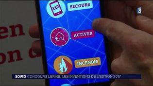 La balise connectée des pompiers, premier prix du Concours Lépine. (FRANCE 3)