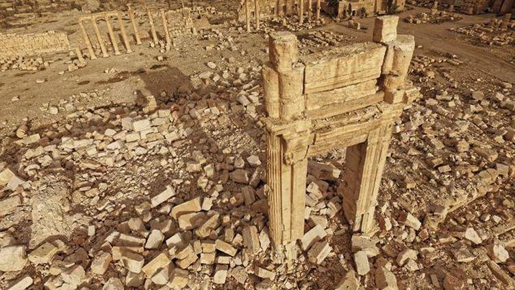 Le temple de Bêl à Palmyre (Syrie) après sa destruction. (ICONEM / DGAM)