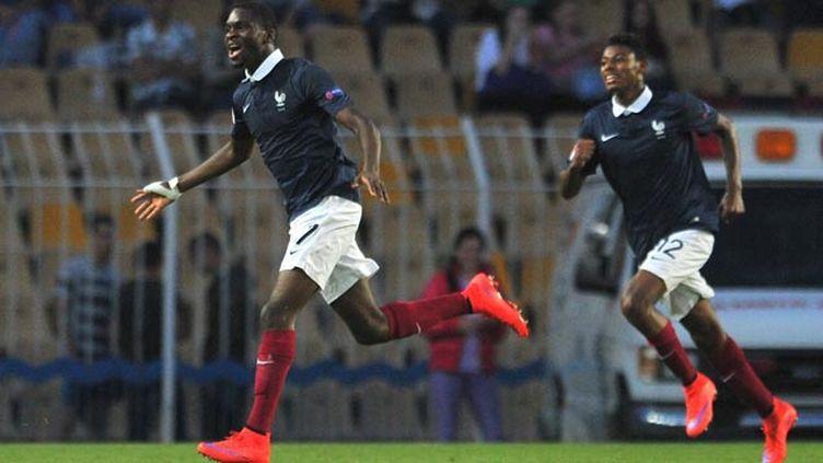 (L'attaquant Odsonne Edouard a inscrit un triplé pour sceller la victoire des Bleuets © EPA/MAXPPP)