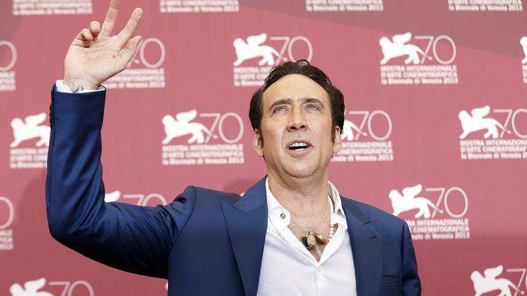 Nicolas Cage, au 70e festival du film de Venise (Italie), le 30 août 2013. (ALESSANDRO BIANCHI / REUTERS)