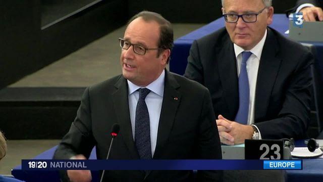 """Marine Le Pen désigne François Hollande comme le """"vice-chancelier"""" d'Angela Merkel"""