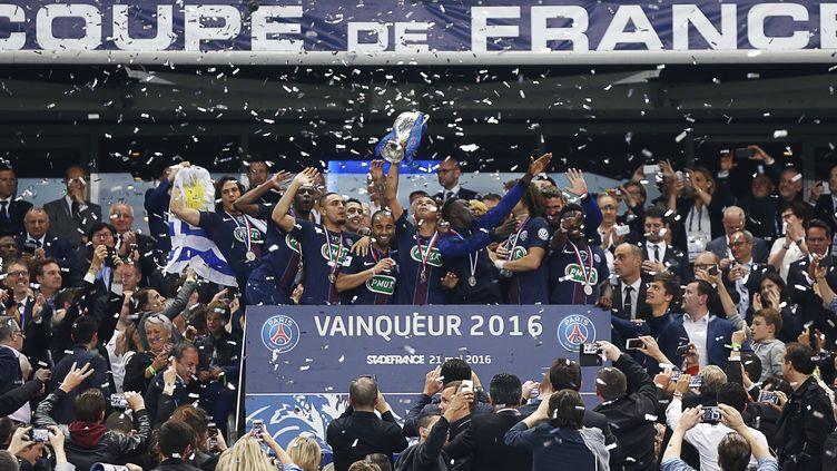 Le Paris Saint-Germain, vainqueur de la Coupe de France la saison passée (THOMAS SAMSON / AFP)