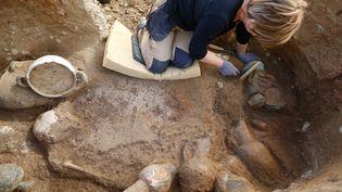 Un site archélogique à Aléria (Corse). (PASCAL POCHARD-CASABIANCA / AFP)
