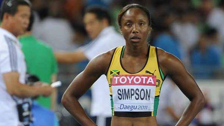 Sherone Simpson.  (JUNG YEON-JE / AFP)
