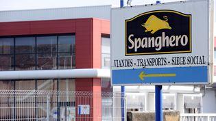 L'entrée de l'usine Spanghero, le 10 février 2013, à Castelnaudary (Aude). (REMY GABALDA / AFP)