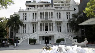 Le musée Sursock sans ses vitres et débarassé de ses débris après la double explosion qui a touché Beyrouth le 4 août. (JOSEPH EID / AFP)