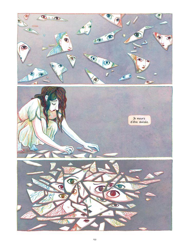 """Page 153 de l'album """"Anaïs Nin - Sur la mer des mensonges"""" de Léonie Bischoff. (Casterman / Léonie Bischoff)"""
