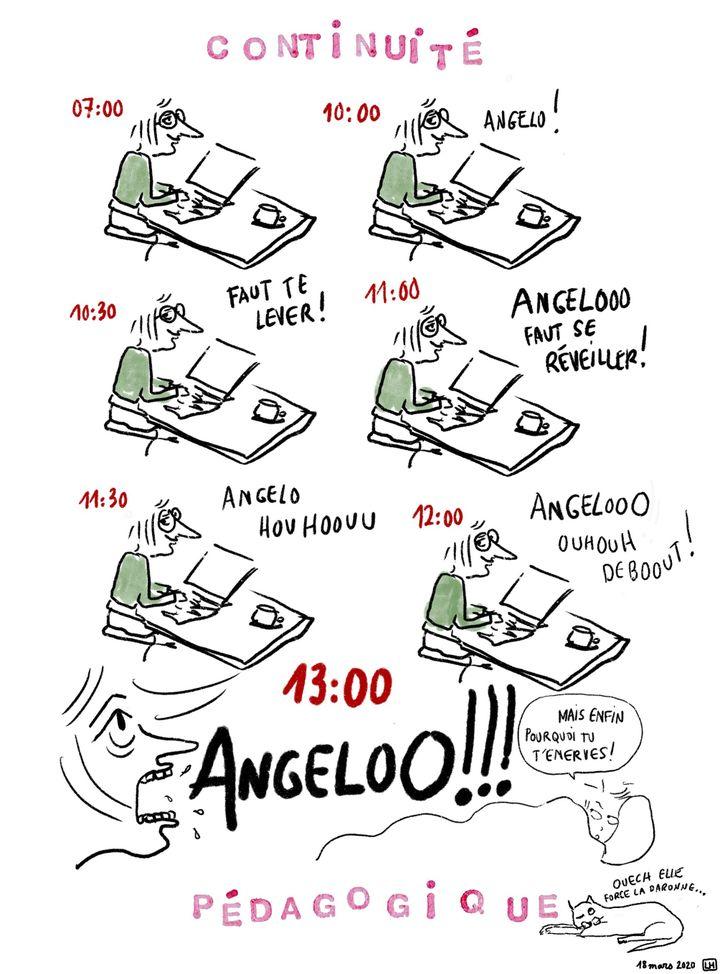 """""""Les chroniques d'Angelo"""", en confinement avec un ado, Jour 1 (franceinfo Culture)"""
