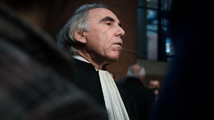 Daniel Merchat, avocat du policier acquitté après avoir tiré sur un braqueur en fuite, vendredi 15 janvier à Bobigny (Seine-Saint-Denis) (MANNONE CADORET / CITIZENSIDE.COM / AFP)
