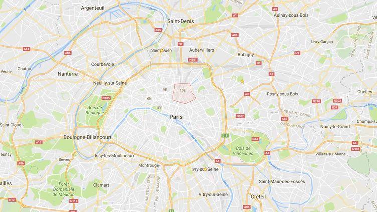 Le 10e arrondissement de Paris. (GOOGLE MAPS)