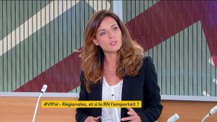 """La députée LREM de l'Hérault Coralie Dubost était, mercredi 26 mai, l'invitée de """"Votre instant politique"""" sur la chaîne franceinfo. (FRANCEINFO)"""