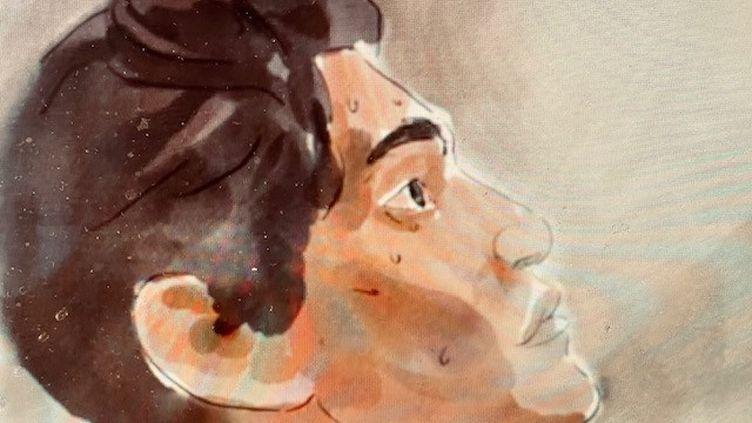 Représentation de l'esclave Furcy dans le documentaire réalisé par Pierre Lane. (Furcy, le procès de la liberté, illustration de Louis Tardivier)