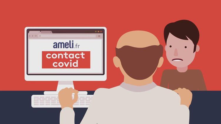 La base de données Contact Covid. (FRANCEINFO)