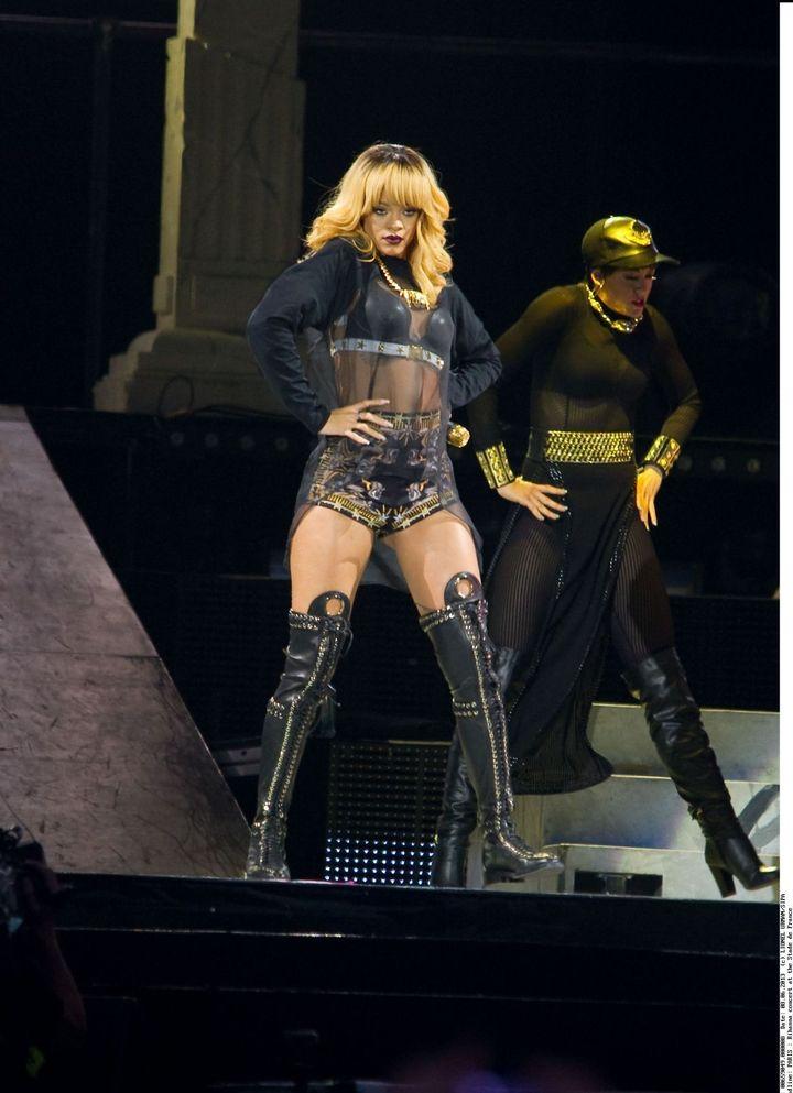 Rihanna en concert au Stade de France le 7 juin 2013  (LIONEL URMAN/SIPA)