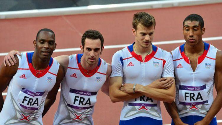 Le relais Français du 4x100m après sa course