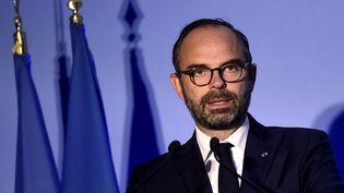 Le Premier ministre, Edouard Philippe, le 15 novembre 2018 à Dunkerque (Nord). (FRANCOIS LO PRESTI / AFP)