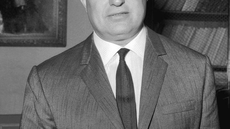 """Frédéric Dard, auteur du célèbre """"San-Antonio"""", en 1965. (STAFF / AFP)"""