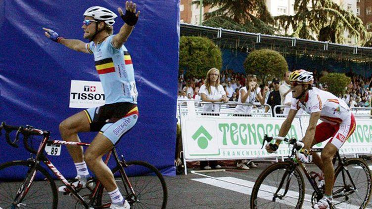 Tom Boonen devient champion du monde à Madrid devant l'Espagnol Alejandro Valverde