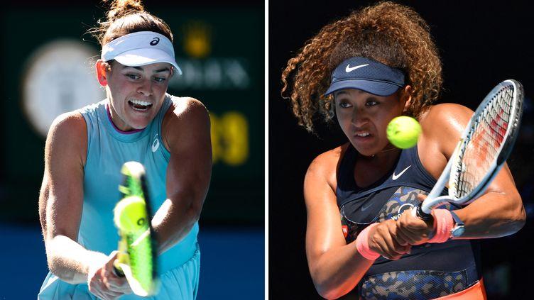 Jennifer Brady et Naomi Osaka, les deux finalistes du tournoi dames de l'Open d'Australie 2021 (PAUL CROCK,DAVID GRAY / AFP)