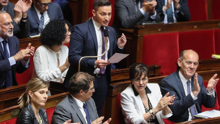 Maxime Minot, député LR de l'Oise, le 5 juin 2019 à l'Assemblée nationale. (JACQUES DEMARTHON / AFP)