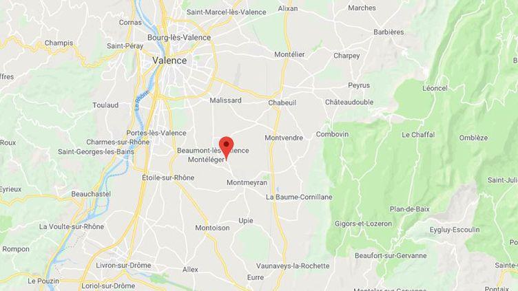 Beaumont-lès-Valence dans la Drôme. (GOOGLE MAPS)